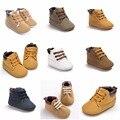 ROMIRUS Otoño Invierno Muchachas de Los Bebés Suave Suela Botas Primer Caminante Zapatos Mocasines Moda de Nueva Prewalker Altas Zapatillas de Deporte Superiores 0-18 M