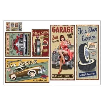 Neumático cartel pintura muestra decoración placa de Metal Vintage coche garaje pared arte Decoración Retro cartel Retro mediados siglo Ad