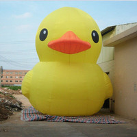 3 Meters inflatable yellow duck advertisement made of oxford cloth