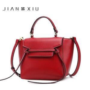 JIANXIU Brand Top-handle Handbag Women Messenger Bags Split Leather Shoulder Bag High Capacity Crossbody Bag New Purse Belt Tote