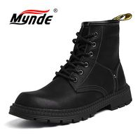 Mynde Men Fashion Ankle Boots Winter / Autumn men's Motorcycle Martin Boots Men's Boots Snow Boots Oxfords Keep Warm Shoes