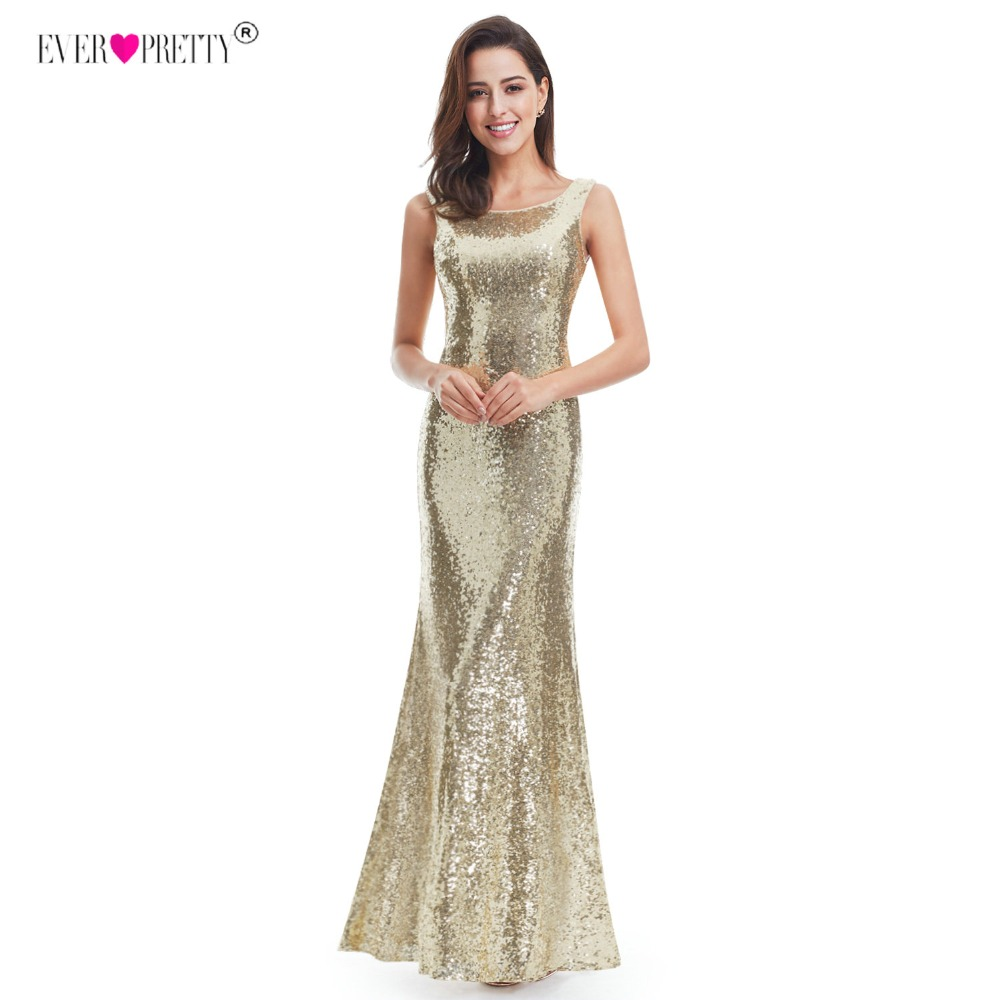 Silver Long Prom Dress Sparkle Ever Pretty Women 2018 Gold Luxury  Sleeveless Double V Neck Elegant Sequin Prom Gown-in Prom Dresses from  Weddings   Events ... f1771c208