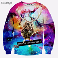 Hip Hop Fashion Men Women sweatshirt Street Style Galaxy Owl 3D Printed Sweatshirt Casual Pullover Bardian Long Sleeved Hoody