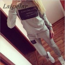 Woman Sweatshirt Clothes sets 2018 Ballinciaga Tracksuits 2 Piece Set Women Suit Hoodies Fast Shipping Laipelar