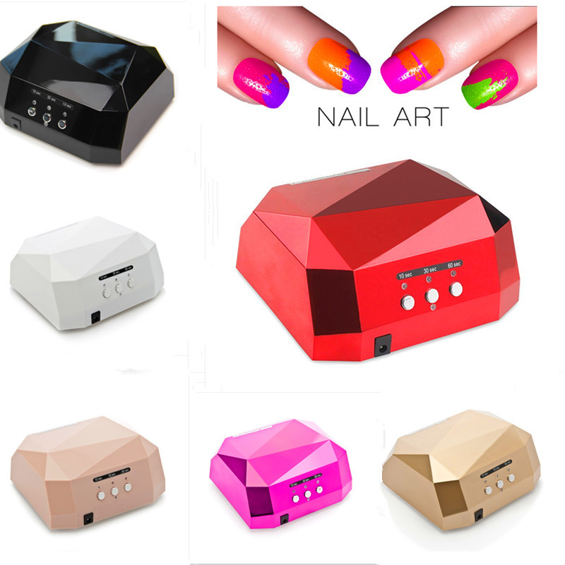UVLED Lamp Nail Dryer Nail Lamp Diamond Shaped Long Life 36W LED CCFL Curing for UV Gel Nails Polish Nail Art Tools 36w uv led lamp nail dryer 4 color diamond shaped led uv lamp nail lamp curing for uv led gel nails polish nail art tools