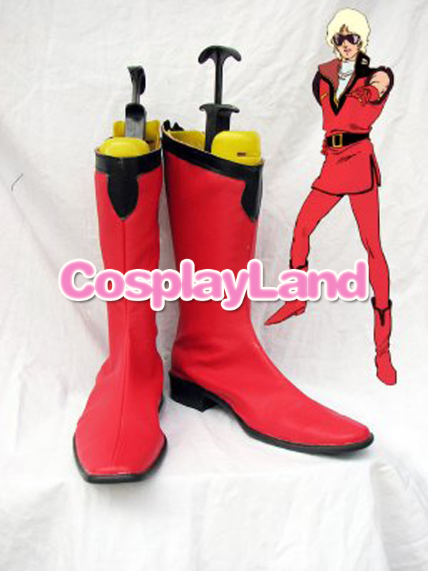 MOBILE SUIT GUNDAM Auel Red Cosplay Boots Shoes Anime Party Cosplay Boots for Adult Men Shoes image