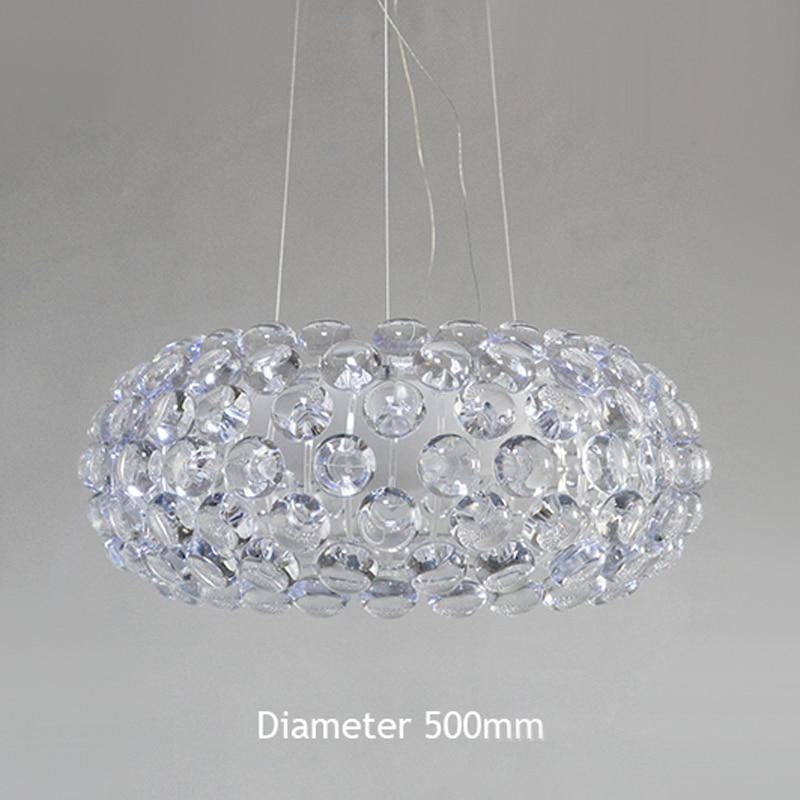 Moderne Woonkamer Acryl RS7 Lamp Hanglampen Armatuur Eetkamer Foscarini Caboche Dia35/50/65 Cm Clear gouden Hanger Lamp - 5