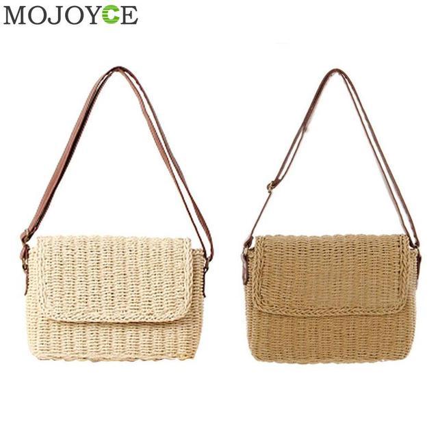 Hot Summer Beige Brown Women Shoulder Bag Hand Made Exquisiteness Straw Bags Mini Woven Flap Sweet Pastoral Rattan Girls Bag