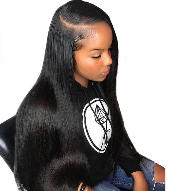 360 nėrinių priekinės perukas iš anksto supakuotas su kūdikių plaukais 150% tankis tiesus Brazilijos nėrinių priekinis žmogaus plaukų perukai Remy Ever Beauty