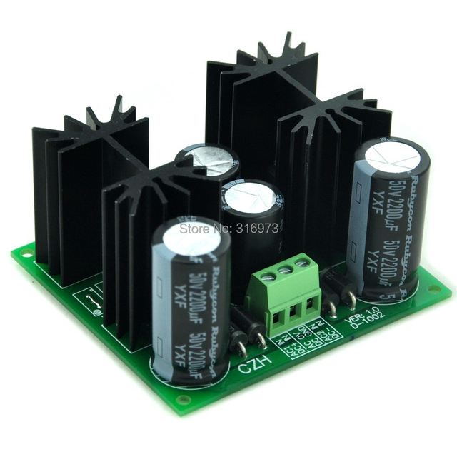 Positivo y Negativo +/-9 V DC Módulo Regulador de Voltaje de Placa, de alta Calidad.