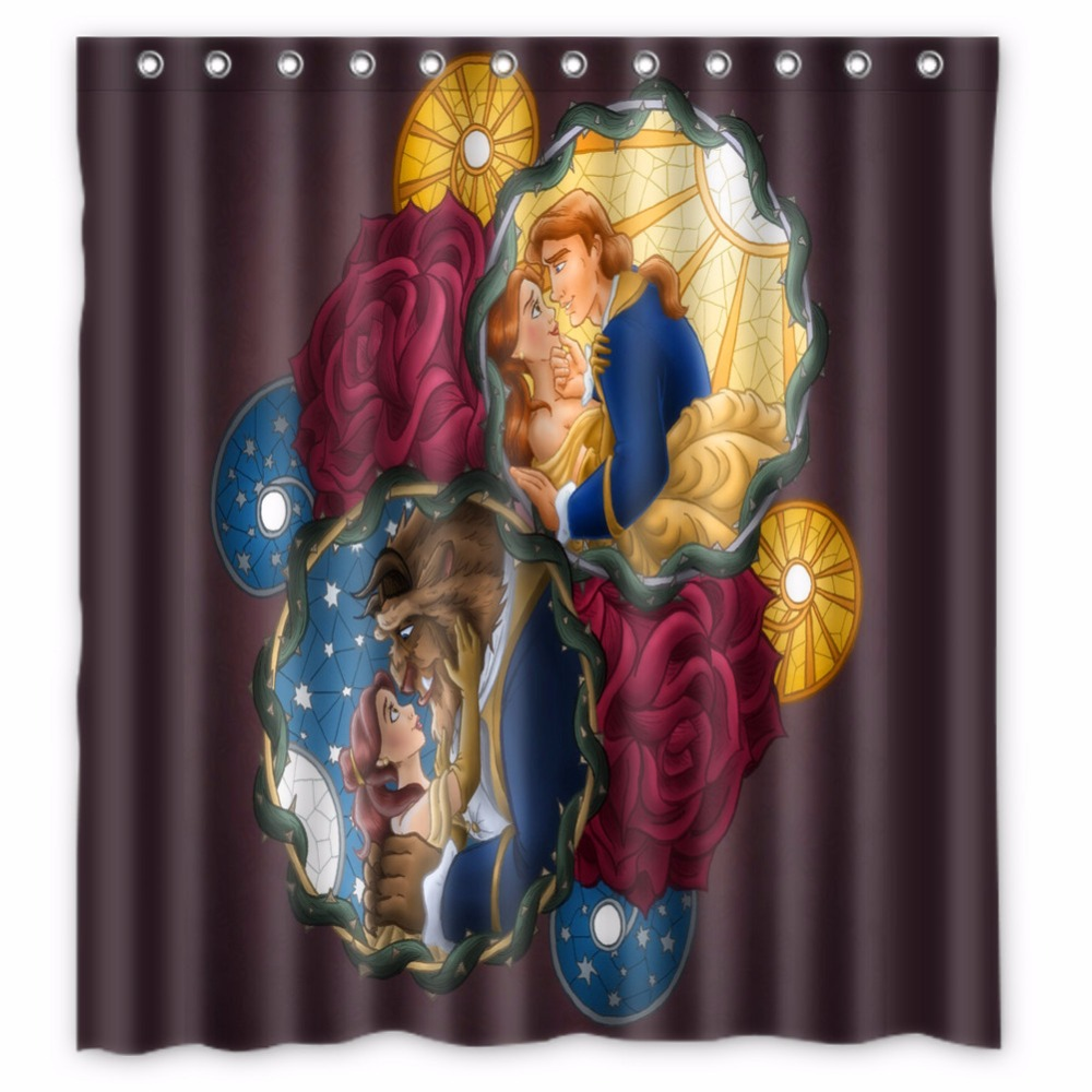 buy beauty and the beast shower curtain and get free shipping on