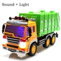 3D music sound garbage truck cleaning car Large engineering car inertia toy car toys for children boys vehicle model Gifts toy