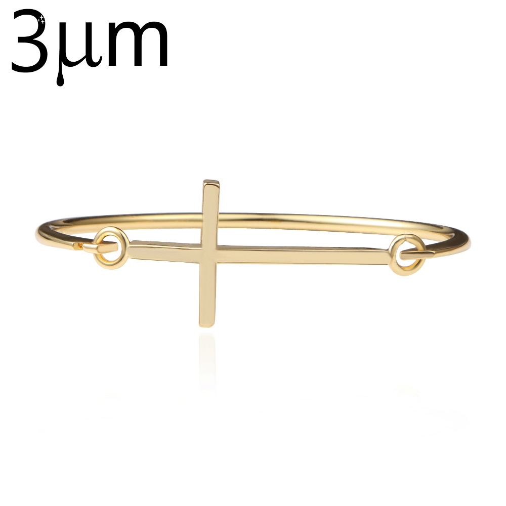 Sideways Cross Bracelets bangles Open Cross Cuff Bracelet delicate Jewelry For Women Crosses Delicacy Pulseiras
