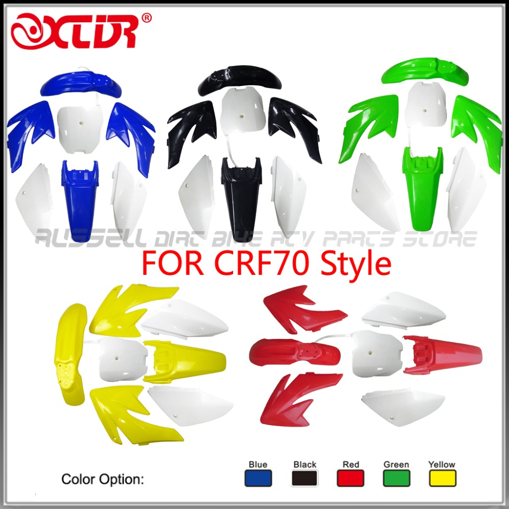 CRF70 Mudguard PLASTICS FENDER COVER kits For Honda 70 CRF70 125cc 140cc 150cc 160cc Dirt Pit