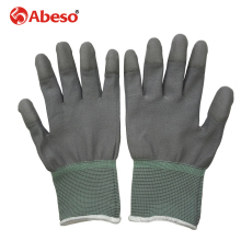 AIBUSISO 1pair Antistatic Gloves Anti Static ESD Electronic Working Gloves pu palm coated finger PC Antiskid for Finger A3004