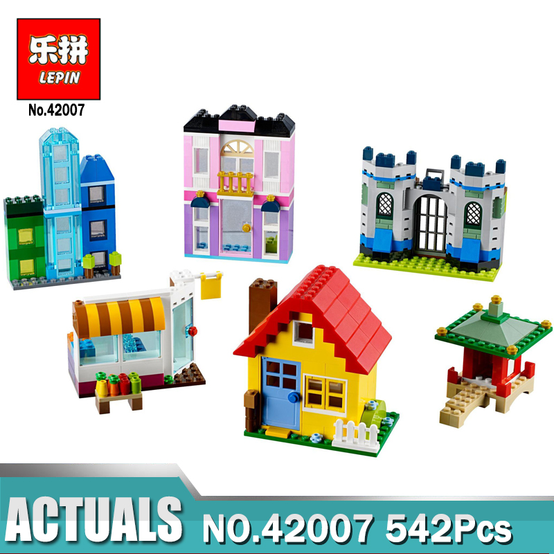 In stock Lepin 42007 Creative Bricks The Creative Builder Box Set Building Blocks Kits Funny Toy Kid Gift Compatible 10703 Model kid s box 2ed 6 pb