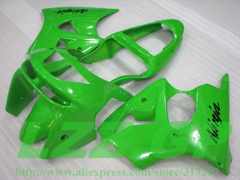 Green Body for KAWASAKI Ninja ZX-6R ABS ZX 6R 1998-1999 fairings ZX6R 98 99 ZX 6R 1998 1999 Fairing kits ZTT5