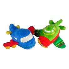 Плюшевые игрушки строительные маленькие зеленые самолеты мини