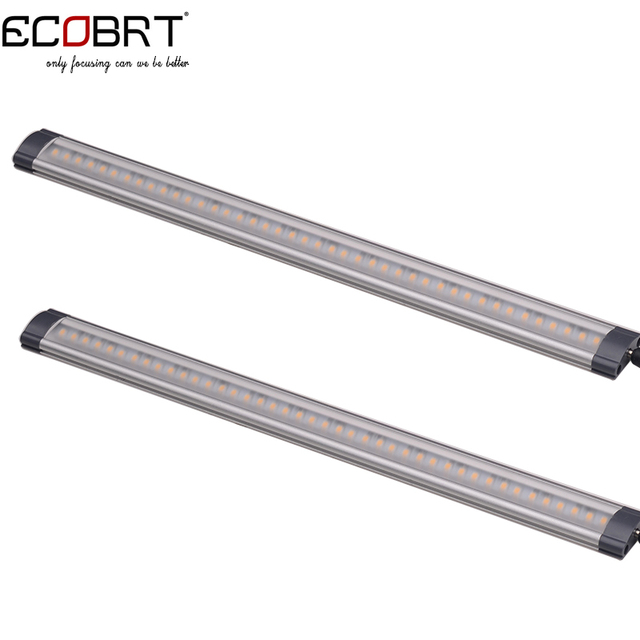 Modern 12v Kitchen LED Under Cabinet lights Tubes 50cm long 5W Aluminum linear Extendable led strips with optional accessories