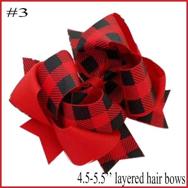 free shipping 10pcs Buffalo Plaid bows christmas Hair Bows With Clips plaid Kids Girls Princess Handmade Boutique bows - Цвет: 2018102402003