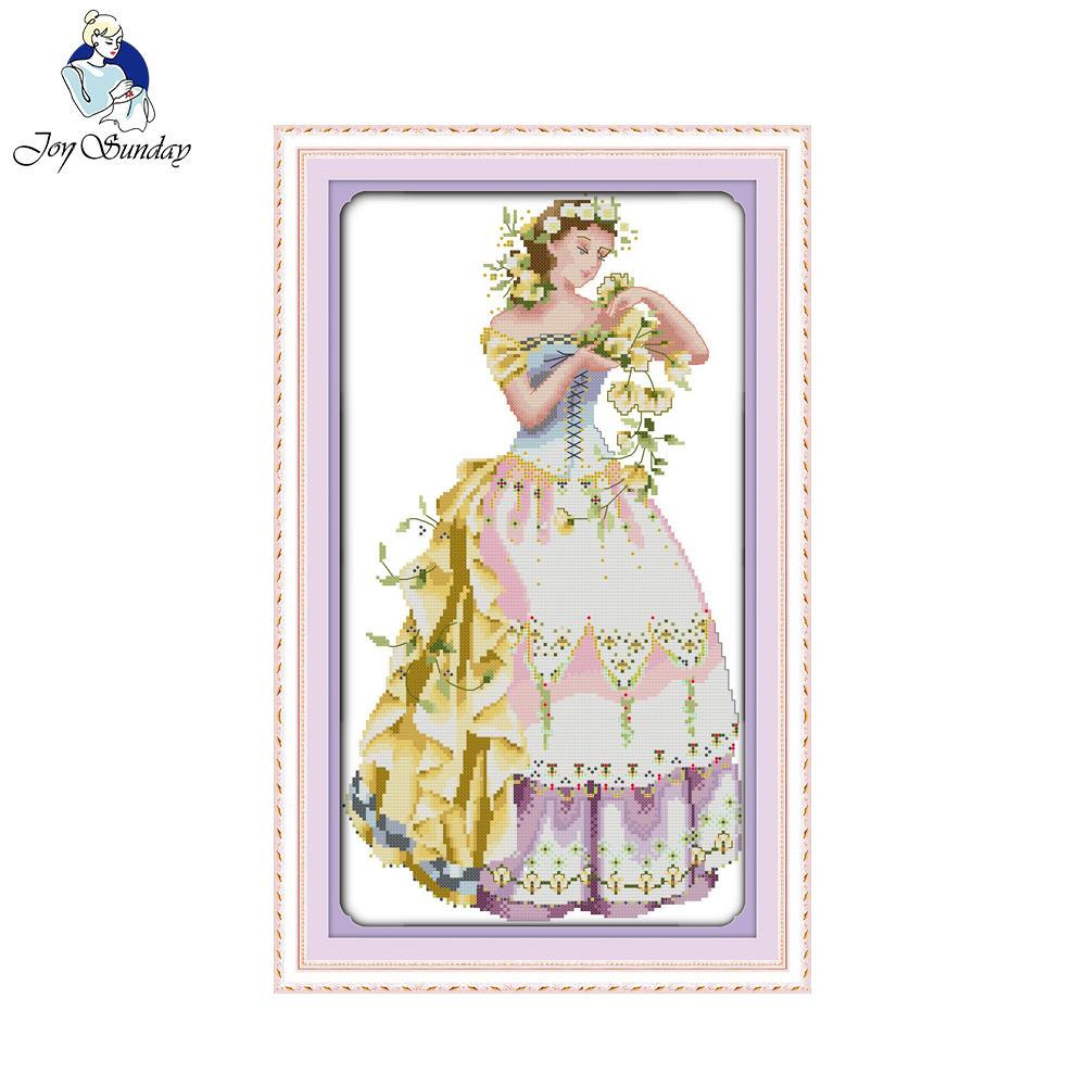 Joy sunday the young girl cross stitch kits embroidery