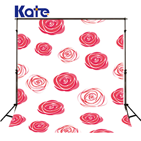 Kate Painting Pink Flowers Backdrops Photography Background White Wall Backdrop Photocall Backgrounds For Photo Studio wedding photo backdrops white flowers hanging lights computer printing background gray wall murals backgrounds for photo studio