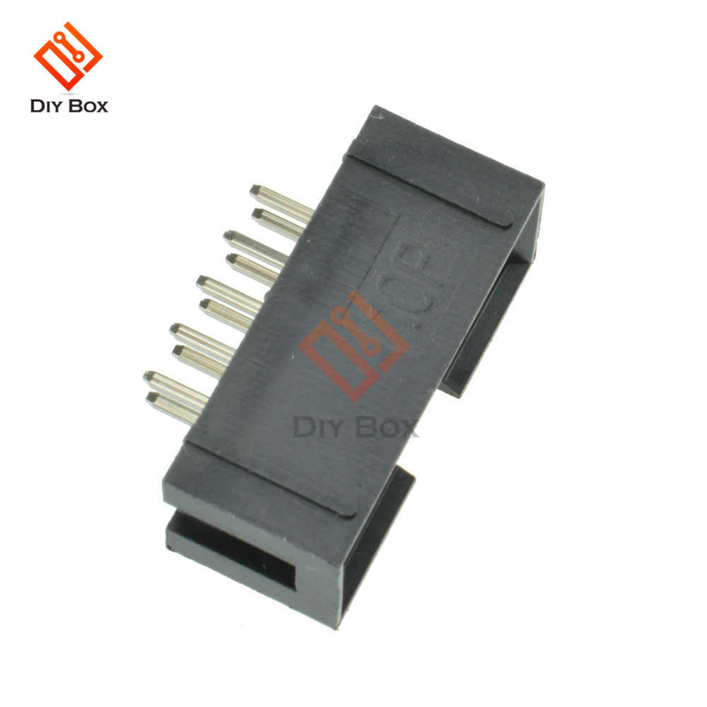 50PCS 10 Pin 2x5 Pin Double Row 2.54mm Pitch Straight Pin Male IDC Socket  Box Header Connector