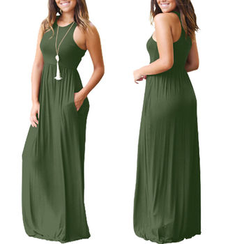 Sleeveless Boho Maxi Dress 1