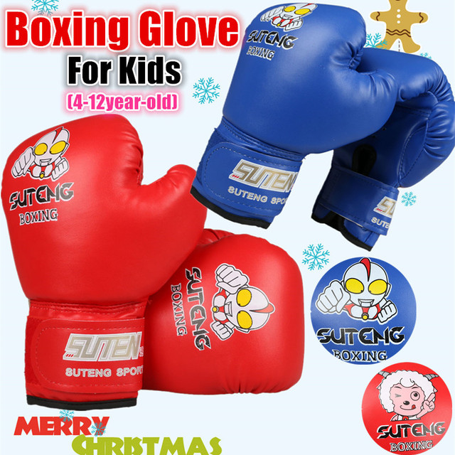 Hot Kids Boxing Gloves Junior Punch Mitts Mma Kickboxing Sparring Glove Children Punching Bag Funny