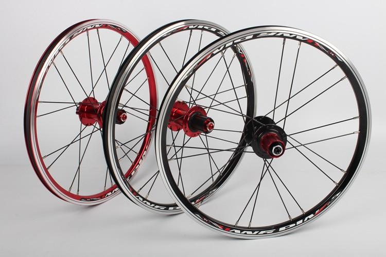 все цены на Original RT A100 20 Inch 451 /406 Folding Bicycle Wheel Perrin BMX Cassette Disc/V Brake Hub Bearing Wheel Folding Wheelset