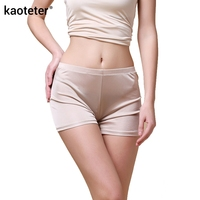 100 Silk Seamless Panties Women 2016 Sexy Boyshort Mid Rise Lift Hip Boxer Healthy Underwear Lingerie