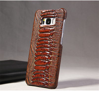 BIGMAX Real Genuine Leather Case For Samsung Galaxy S8 S8 Plus Cell 3D Crocodile Pattern Retro