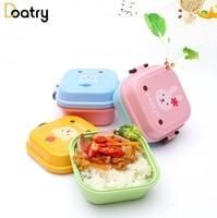2 Layer Cartoon LunchBox Food Container Storage Box Square Microwave Bento Box Plastic Portable Picnic Sushi Box
