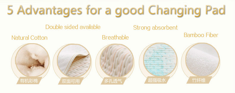 Strong Absorbent&Breathable Changing pads Reusable nappies Waterproof Mattress pad Diaper baby Urine pad washable changing mat (5)