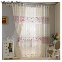 Embroidered Fabric Gauze Curtain Half Shade Custom Curtain Simple Modern Living Room Dining Room Bedroom Curtain