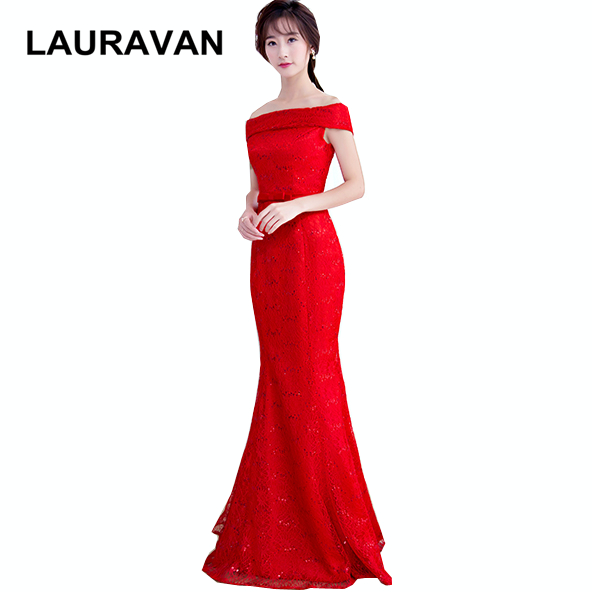 long beautiful modest off the shoulder mermaid   bridesmaid     dress   special lace up party ocassion   dresses   lace red pageant gowns