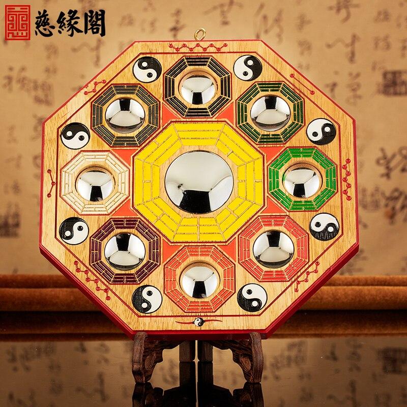 ge lumire naturel acajou miroir lentille entre dcoration jiugong bagua ameublement salon feng shui pendentif - Feng Shui Chambre Miroir