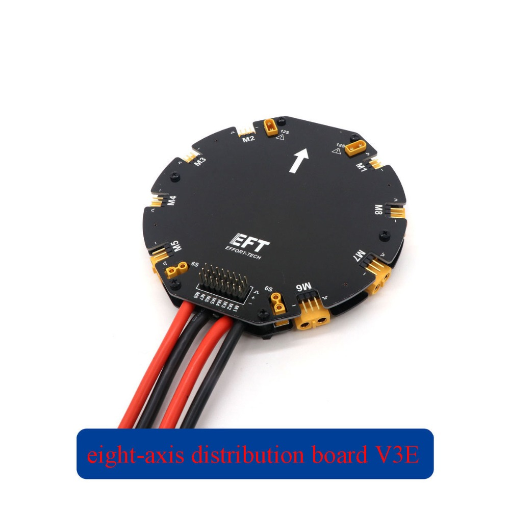 Yuenhoang 1PC Eight axis Distribution Board V3E High Current Power Signal Integrated Disk Management Module for RC Plant UAV