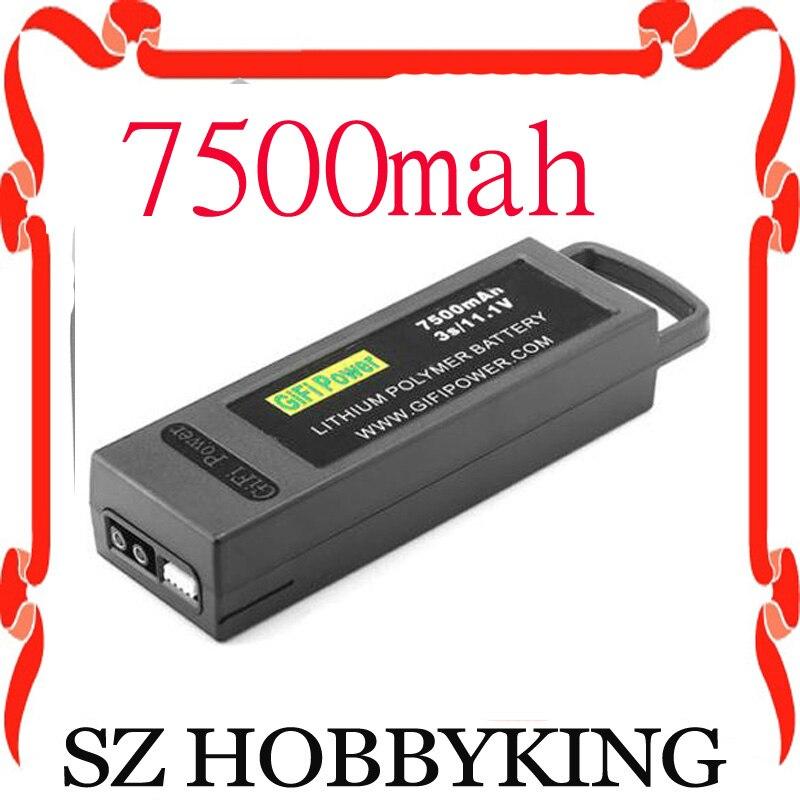 Lithium polymer 7500mAh 6400mah 3S 11 1V LiPo Battery For Yuneec Q500 Q500 4K PRO quadcopter