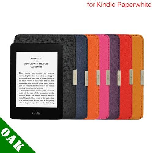 Бесплатная доставка высокое качество PU кожаный чехол обложка для Amazon Kindle Paperwhite с включения / выключения функции - грузоперевозка
