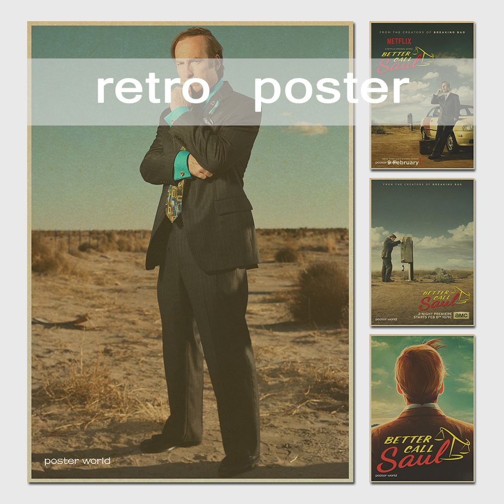 better call sal breaking bad tv show cartel bob odenkirk pelcula retro decoracin de la pared