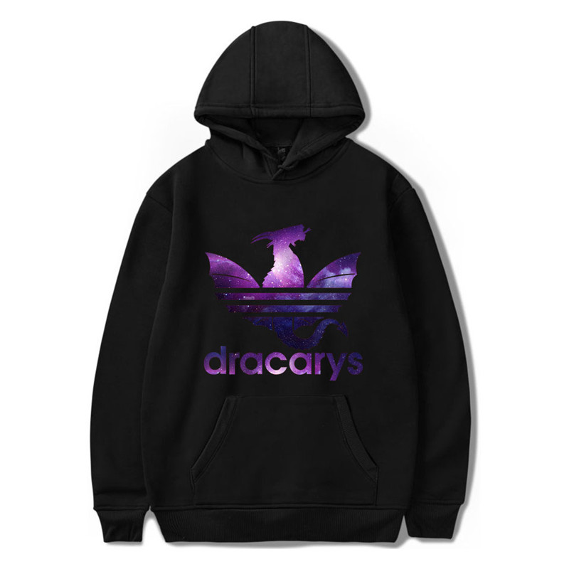 Mens Hoodies Sweatshirts Hot Sale Game Of Thrones Star Dracarys Hooded Pullover Casual Harajuku Cosplay Costume Fashion Hoody