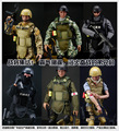 """¡ Caliente! NUEVO 1 unids 12 """"1/6 SWAT Negro Uniforme de Combate Del Ejército Militar Juego Juguetes Soldado Set con Caja Al Por Menor Figura de Acción juegos de construcción"""