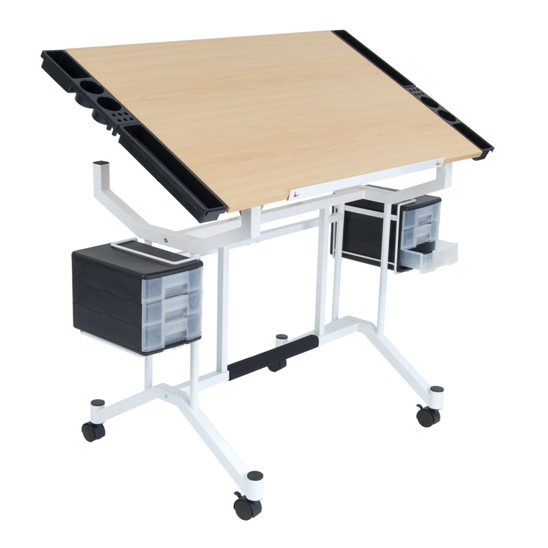 Offex Home Office Pro Craft Station - White/Maple цена