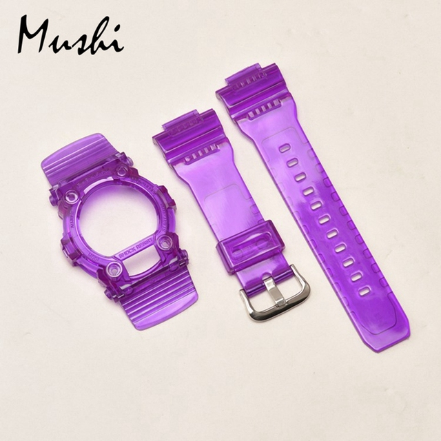 Black Blue Colorful Watchbands Watch Strap Watch Case For Casio G-7900\GW-7900B\