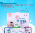 Love moon Anion Sanitary Napkin Pads Sanitary Towels Leakproof 10D+4N+5P 19package Set Female Hygiene Product For women