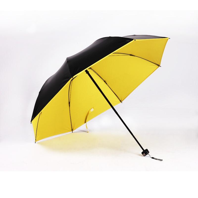 YADA NEW Cute Green Yellow Design Solid Color Women Folding Rainy Umbrella Anti UV Lovely Waterproof Parasol Umbrella Gift YD018 in Umbrellas from Home Garden