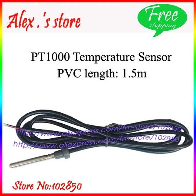 Free Shipping,2pcs/lot  PT1000 Solar Collector Temperature Sensor,Solar Controller Sensor,Dia.=6mm CableLength1.5m,
