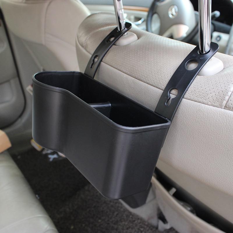 Car chair back case box seat back hanging bag storage pocket bag pocket black