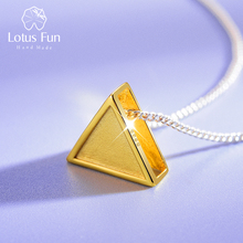 Lotus Fun Real 925 Sterling Silver Minimalism Style Geometri